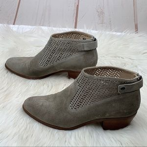 Via Spiga | Taupe Chrissy Cut Out Suede Booties